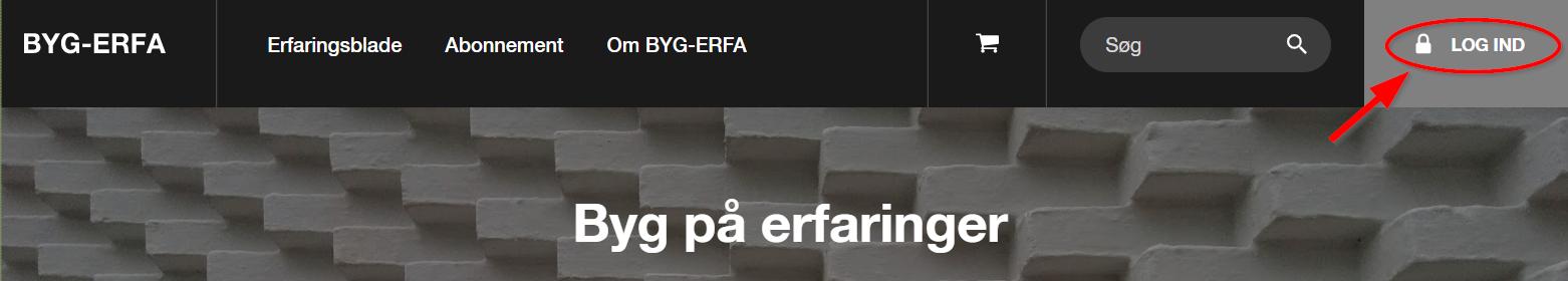BYG-ERFA log ind