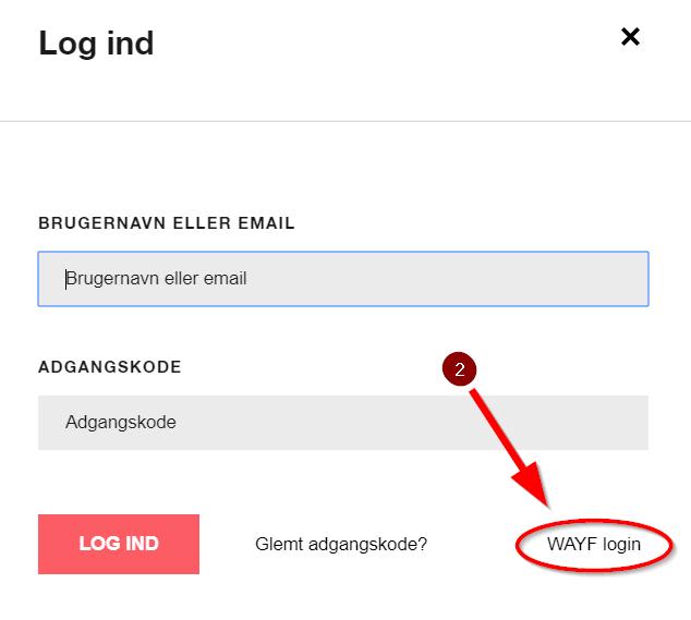 BYG-ERFA Wayf log in
