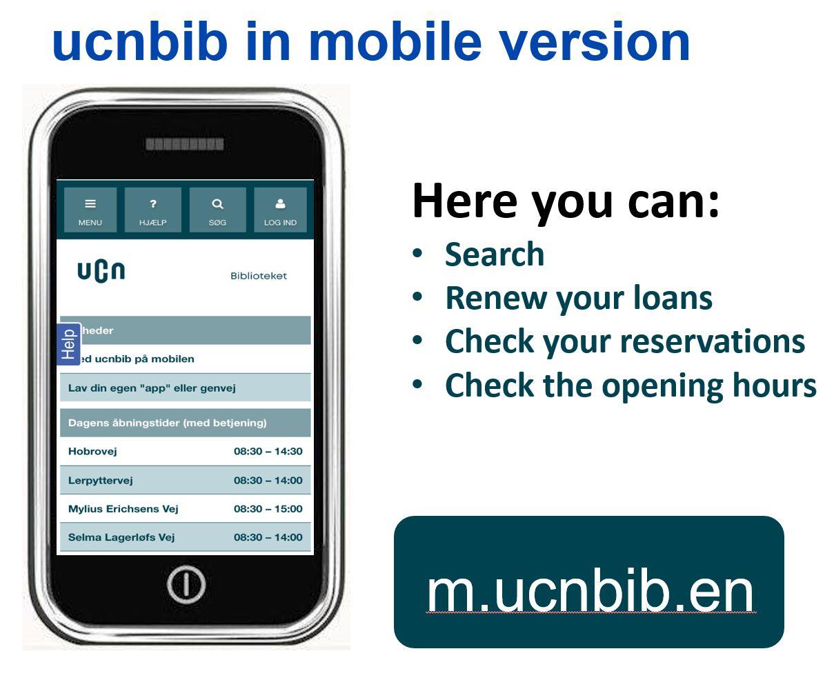 Mobilsite engelsk